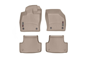 Weathertech Floorliners Tan Front and Rear - Volkswagen Golf/GTI (Mk7) 2015+ / Audi A3/S3 2015+
