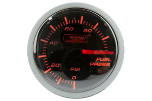 ProSport Fuel Pressure Gauge Electrical w/ Sender 52mm Amber/White (Part Number: )