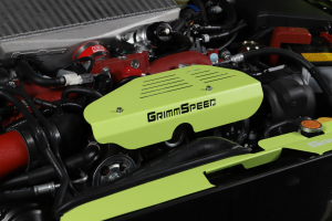 GrimmSpeed Alternator Cover Neon Green - Subaru Models (inc. 2002-2021 WRX / STI)