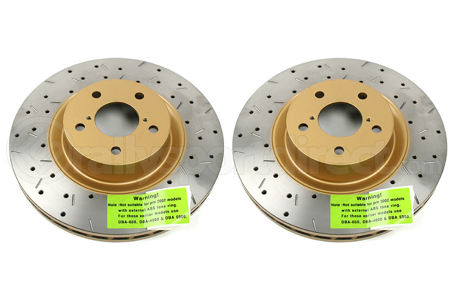 DBA 4000 Series Drilled/Slotted Rotor Pair Front (Part Number:4650XS-GRP)