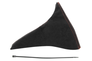 JPM Coachworks Handbrake Boot Black Alcantara Red Stitching ( Part Number: 1027A40-R)
