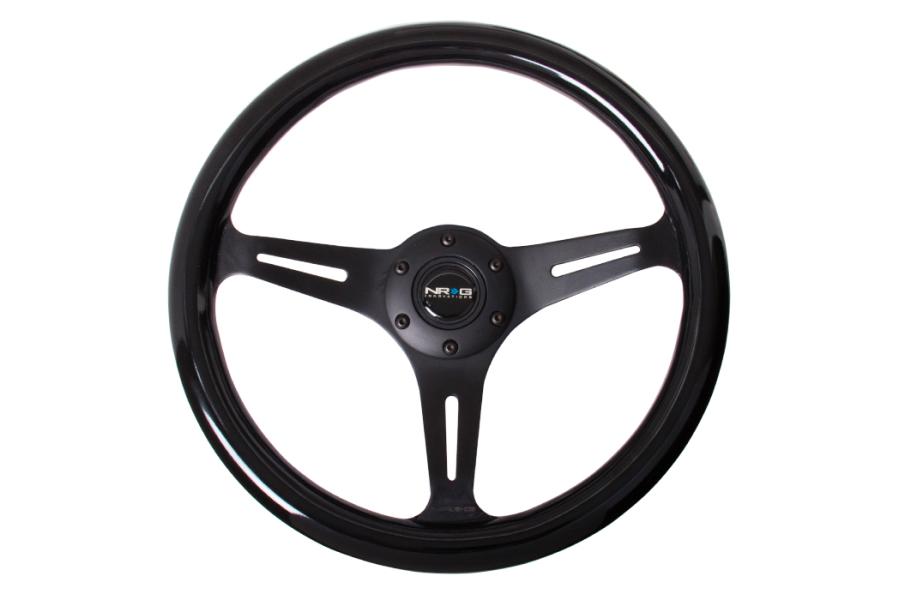 NRG Classic Wood Grain Wheel 350mm Black - Universal