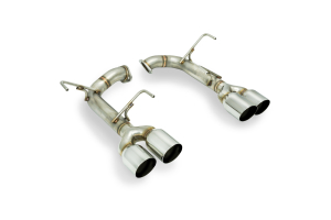 Remark Axle Back Exhaust Muffler Delete Stainless Single Wall Tips (Part Number: )