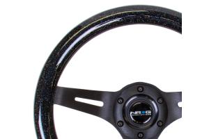 NRG Classic Wood Grain Wheel 310mm Black / Galaxy Sparkle Black - Universal