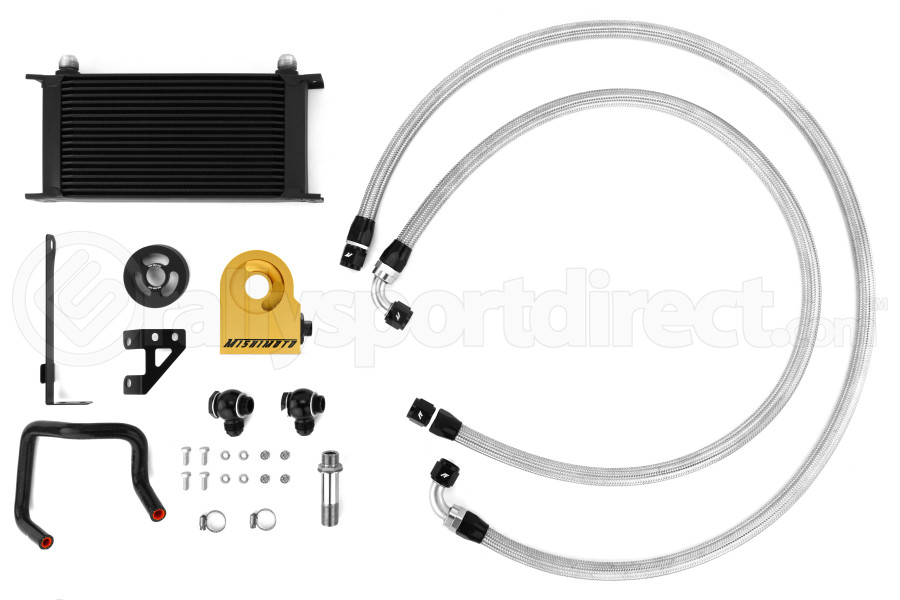 Mishimoto Thermostatic Oil Cooler Kit Black (Part Number:MMOC-WRX-15TBK)