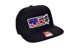 IAG American Flag Flat Brim Black Hat - Universal