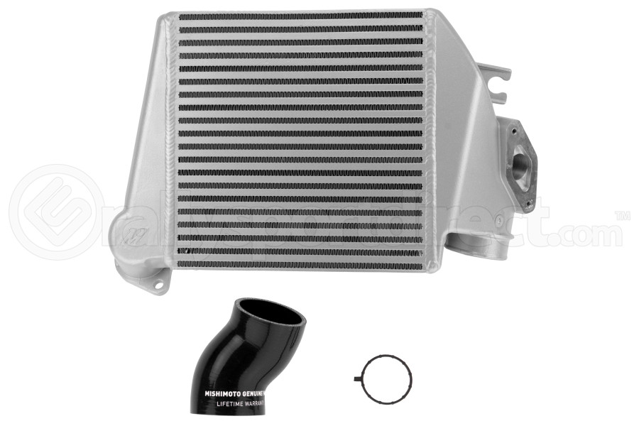 Mishimoto Silver Top Mount Intercooler w/ Black Hose - Subaru WRX 2008-2014