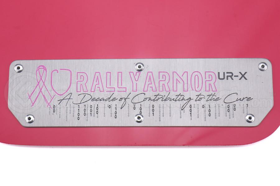 Rally Armor UR Mudflaps Breast Cancer Awarness Pink w/ Silver Emblem - Subaru WRX/STI 2015+