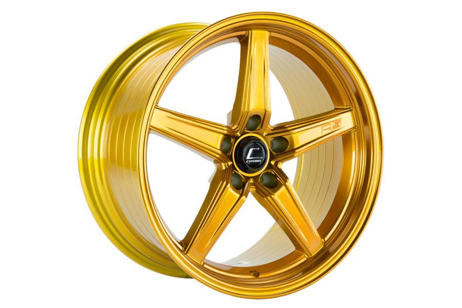 Cosmis Racing Wheels R5 18x9.5 +12 5x114.3 Hyper Gold - Universal