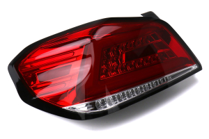 Spec-D Sequential LED Tail Lights Chrome Housing w/ Red Lens andRed LED Bar - Subaru WRX / STI 2015 - 2020