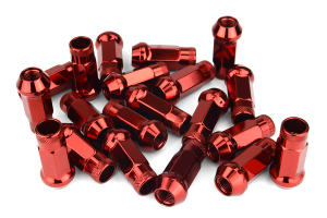 Muteki SR48 Red Open Ended Lug Nuts 12X1.25  - Universal