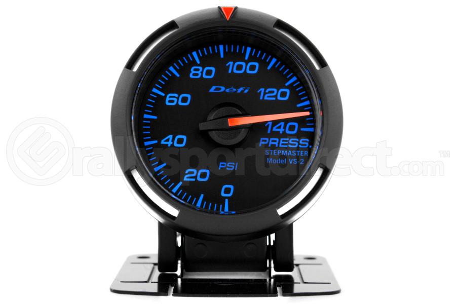 Defi Blue Racer Pressure Gauge Imperial 52mm 140 PSI (Part Number:DF06601)