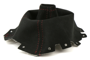 AutoStyled Black Alcantara Shift Boot w/ Red Stitching Standard Shifter ( Part Number: 1303050101)
