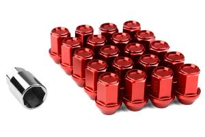 KICS Project Leggdura Racing Red Lug Nuts 12x1.25 - Universal