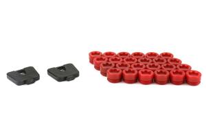 Muteki SR45R Plastic Caps Red - Universal