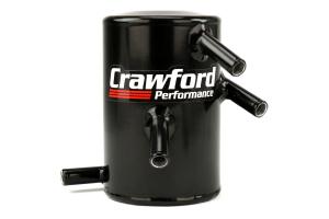Crawford V3 Air Oil Separator Black - Scion FR-S 2013-2016 / Subaru BRZ 2013+ / Toyota 86 2017+