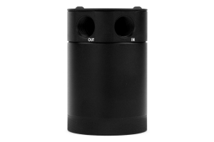 Mishimoto Compact 2-Port Baffled Oil Catch Can Black (Part Number: )