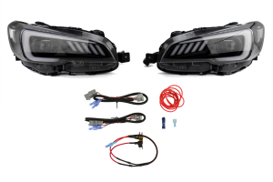 SubiSpeed LED Euro Headlights DRL and Sequential Turn Signals w/ Hardware Kit (Part Number: )