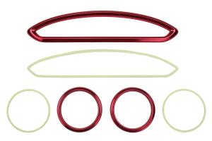 GCS Anodized Aluminum A/C Vent Trim Red - Scion FR-S 2013-2016 / Subaru BRZ 2013+ / Toyota 86 2017+
