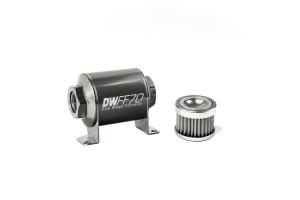 DeatschWerks In-Line Fuel Filter w/ Housing Kit - Universal