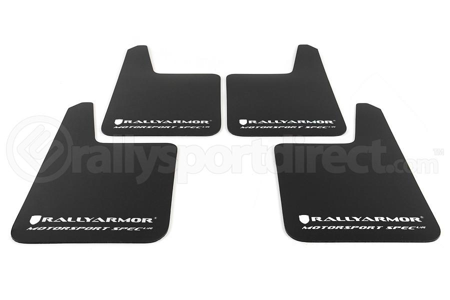 Rally Armor Universal MSpec Mudflap Black Urethane White Logo