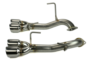 ETS Axle Back Exhaust System No Muffler Polished Tips - Subaru WRX / STI 2015 - 2020