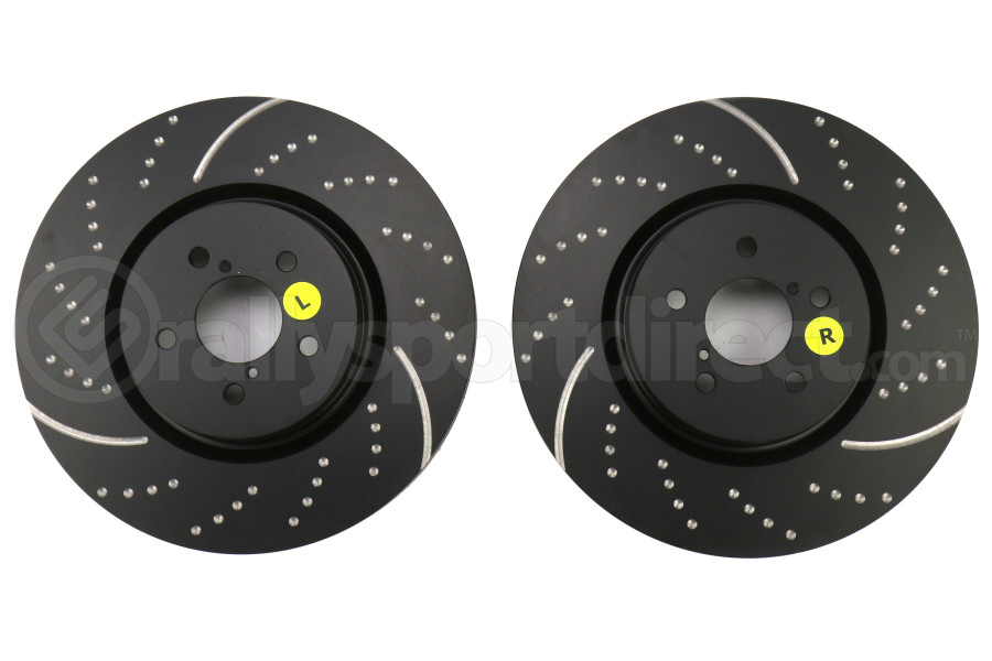 EBC Brakes 3GD Series Sport Dimpled/Slotted Front Brake Rotors - Subaru Models (inc. 2005-2014 Legacy / 2014+ Forester XT)
