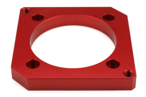 Boomba Racing Throttle Body Adapter 75mm Red - Subaru STI 2004+