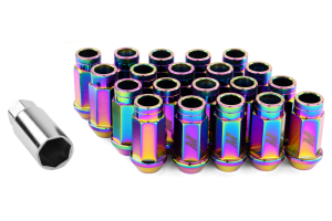 Mishimoto Aluminum Locking Lug Nuts Neo Chrome 12x1.25 ( Part Number:MIS MMLG-125-LOCKNC)