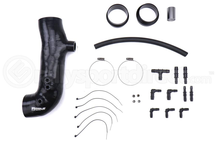 Torque Solution Turbo Inlet Hose 3in Black - Subaru WRX 2002-2007 / STI 2004+ / Forester XT 2004-2008