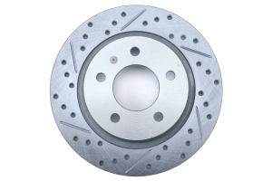 Stoptech C-Tek Sport Drilled and Slotted Rear Passenger Rotor - Mazda 3 2007 - 2013