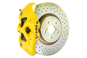 Brembo GT Systems Monobloc 4 Piston 326mm Cross Drilled Yellow - Subaru WRX 2015+