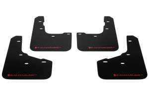 Rally Armor UR Mudflaps Black Urethane Red Logo ( Part Number:RAL MF29-UR-BLK/RD)