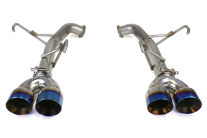 FactionFab Axle Back Exhaust Staggered Burnt Tip - Subaru WRX / STI Sedan 2011-2014