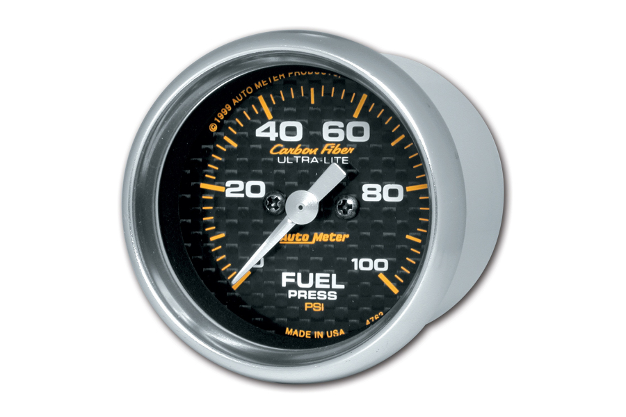 Autometer Carbon Fiber Fuel Pressure Gauge Electrical 52mm - Universal