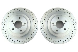 Stoptech C-Tek Sport Drilled and Slotted Rear Rotor Pair - Subaru Models (inc. 2006-2007 WRX / 2005-2009 Legacy GT)