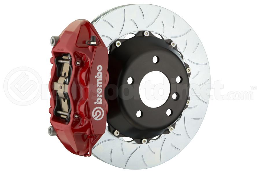 Brembo GT Systems 4 Piston Rear Big Brake Kit Red Slotted Rotors - Subaru STI 2008-2014 / Legacy GT/3.6 2010-2014