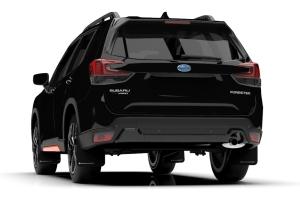 Rally Armor UR Mudflaps Black Urethane White Logo - Subaru Forester 2019+