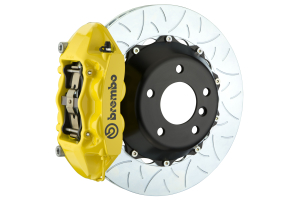 Brembo GT Systems 4 Piston Rear Brake Kit Yellow Slotted - Ford Mustang EcoBoost 2015+