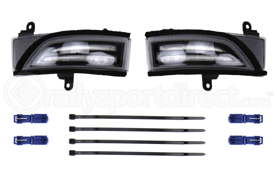 OLM Sequential Mirror Turn Signals with DRL's Clear - Subaru Models (Inc. WRX / STI 2015+ / Forester 2015 - 2018)