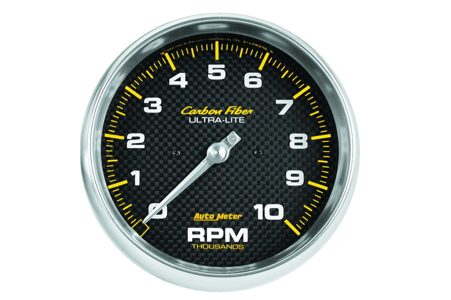 Autometer Carbon Fiber In-Dash Tachometer Gauge 5in - Universal