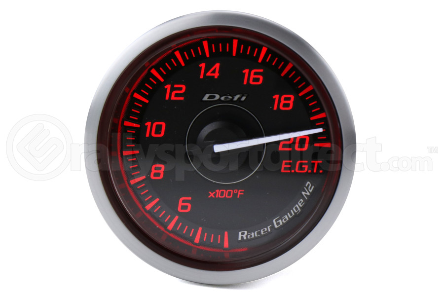 Defi DF Red Racer N2 Exhaust Temp Gauge Imperial 52mm - Universal