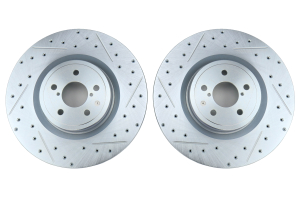 Stoptech C-Tek Sport Drilled and Slotted Front Rotor Pair - Subaru STI 2004