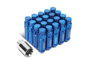 NRG Innovations Steel Lug Nut Set w/ Dust Cap Cover M12x1.25mm (Multiple Color Options) - Universal
