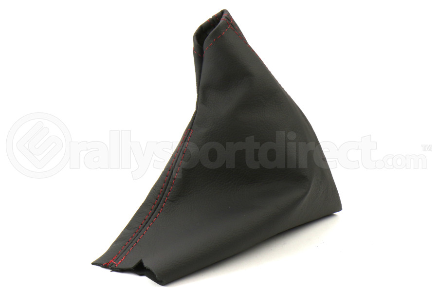 AutoStyled Black Leather E-Brake Boot w/ Red Stitching (Part Number:1401010101-K)