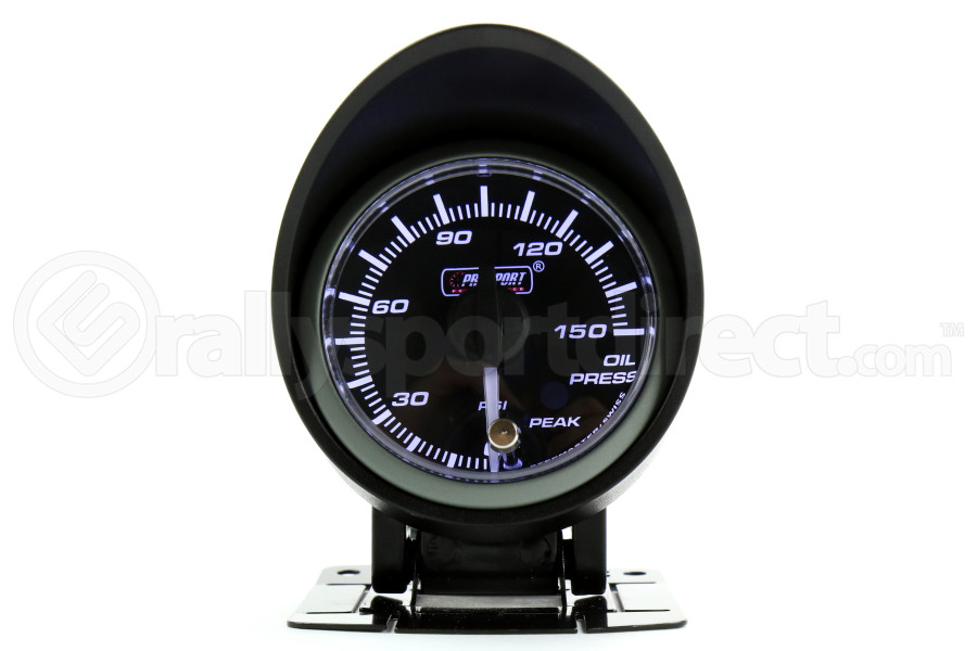 ProSport Oil Pressure Gauge Electrical w/Sender Amber/White 52mm (Part Number:216SMWAOPWNCL270-PK.PSI)