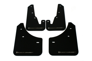 Rally Armor UR Mudflaps Black Urethane Silver Logo ( Part Number:RAL MF9-UR-BLK/SIL)
