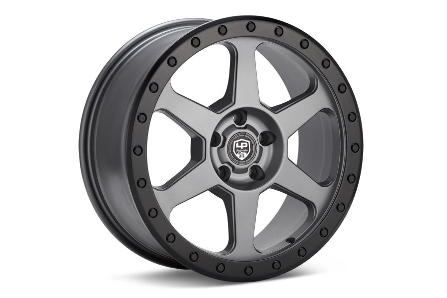LP Aventure LP3 Wheel 17x8 +38 5x100 Grey w/ Black Ring - Universal