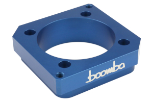Boomba Racing Cosworth Manifold Spacer Blue Anodized - Subaru STI 2004-2014