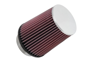 K&N Filters Universal Air Filter 3.5 Inch Chrome - Universal